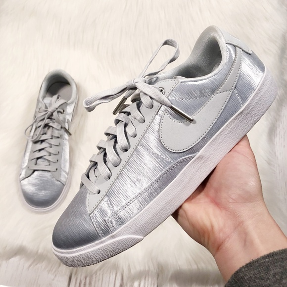 f82a570c7012 NEW! Nike Satin Court Sneakers in Platinum